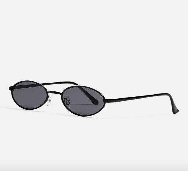 Topshop Slender Oval Sunglasses