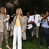 A duo of leopard-clad models were serenaded by the band.  Photo courtesy of Stella McCartney