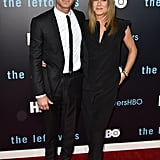 For another red carpet premiere of The Leftovers in 2015, the duo wore black. Jen wore a jumpsuit instead of a dress for the special occasion.