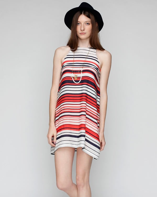 Every Summer wardrobe needs a great basic striped dress – this one could go just about anywhere with the right accessories, and we love the cute color combo.  Need Supply Co. Olympia Dress ($38)