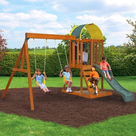 Ready to Assemble Wooden Swing Set