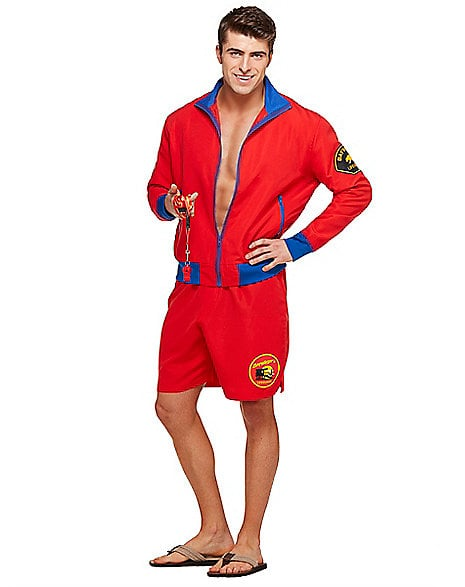 Adult Menu0027s Baywatch Costume ...  sc 1 st  Popsugar : cheap halloween costume for men  - Germanpascual.Com