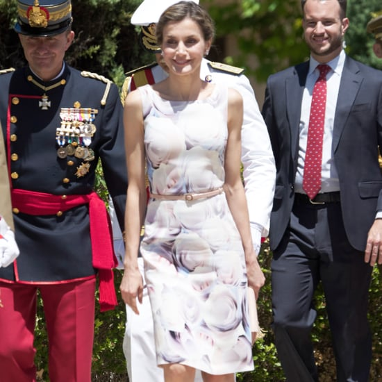 Queen Letizia's Hugo Boss Floral Dress July 2016
