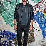 Justin Theroux Looked Handsome in Leather