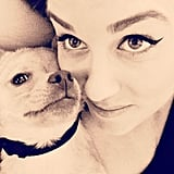 Lauren Conrad and Fitz cuddled up for a close-up.  Source: Instagram user laurenconrad