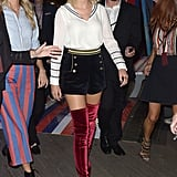 Taylor Swift at Tommy Hilfiger's Fashion Show in NYC 2016