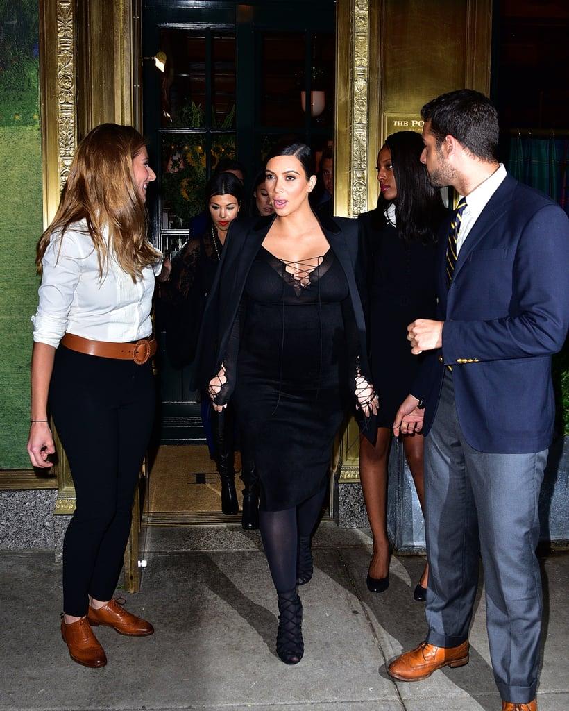 Kim Kardashian 39 S Outfits At Fashion Week Spring 2016 Popsugar Fashion