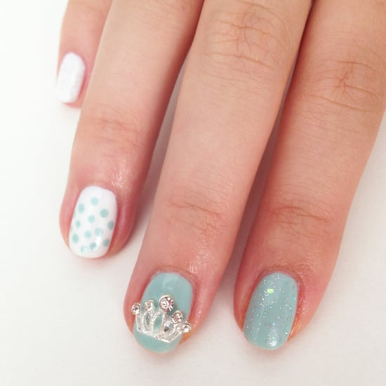 ... been named George Alexander Louis, so show off your support for Prince  William and Kate Middleton with this sparkling nail art in shades of baby  ... - Royal Baby Nail Art Design POPSUGAR Beauty