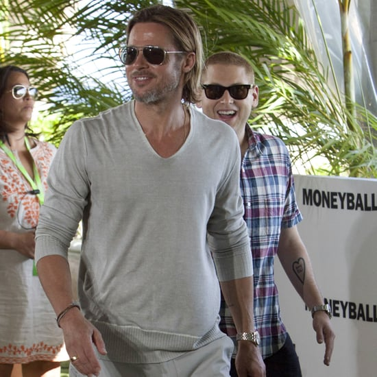 Brad Pitt in Mexico For Moneyball