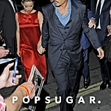 Johnny Depp and Amber Heard held hands in London.