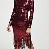 Rebecca Vallance Matisse Sequined Midi Dress