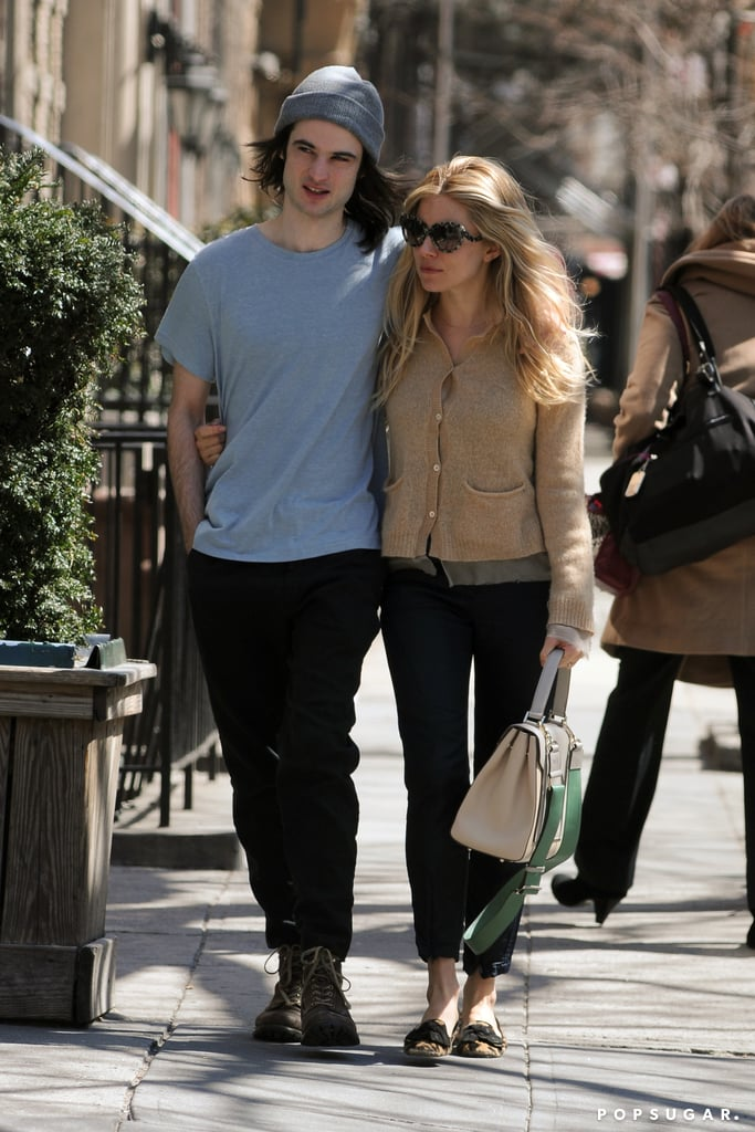 Sienna Miller and Tom Sturridge took a baby break for lunch in NYC.