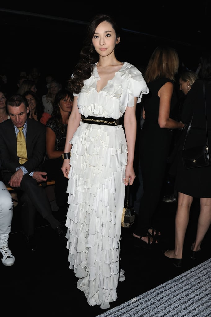 Pace Wu was at the Viktor & Rolf haute couture show on July 3.