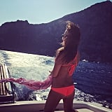 Lea Michele showed off her bikini body in Italy. Source: Instagram user msleamichele