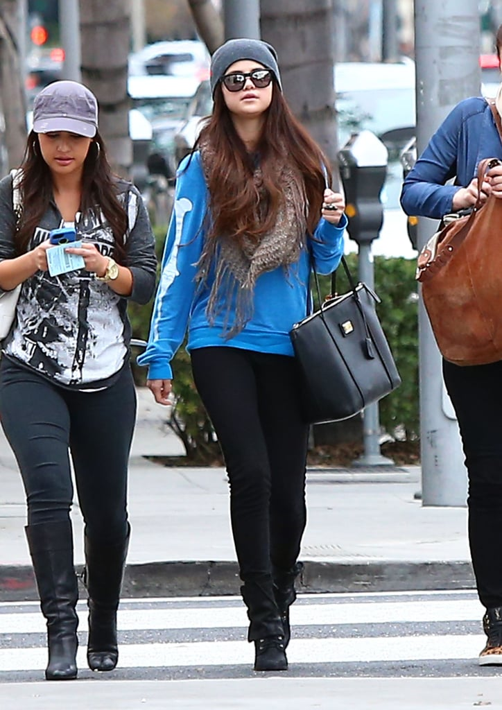 Selena Gomez Has a Spring in Her Step While Shopping With Friends