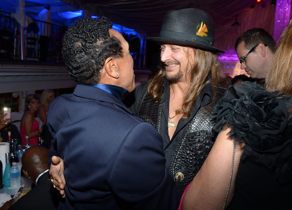 Kid Rock met up with Smokey Robinson at the Barnstable Brown Gala on Friday.