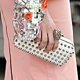 Sequins, studs, and a chunky ring to top it all off.