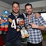 Chris Pratt and Chris Evans Honor Their Super Bowl Bet With Adorable Kids