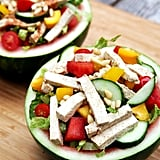 Ginger Tofu Watermelon Bowl Salad
