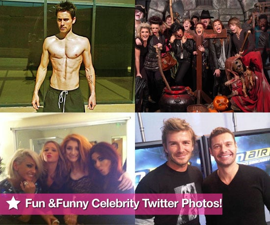See Funny Celebrity Twitter Pictures Including Shirtless Jared Leto, David Beckham, X Factor Contestants Celebrating Halloween