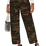 Topshop Sonny Camouflage Corduroy Trousers