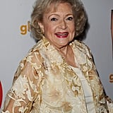 Betty White flashed a smile.