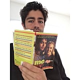 """Adrian Grenier enjoyed a """"little light weekend reading,"""" breaking open a copy of Drive Me Crazy, aka How I Created My Perfect Prom Date, the book that inspired his 1999 movie with Melissa Joan Hart."""
