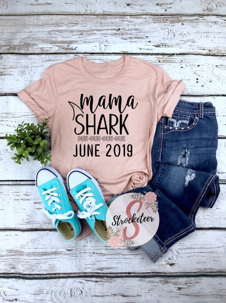 8331bc78 Baby Shark Pregnancy Announcement Onesies and Shirts   POPSUGAR Family