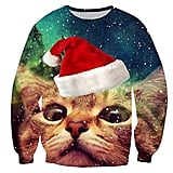 Cutiefox Digital Print Crew Neck Pullover Christmas Sweater