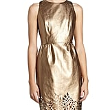 Michael Michael Kors Metallic Gold Laser-Cut Dress
