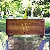 Monogram Wood Wine Trough