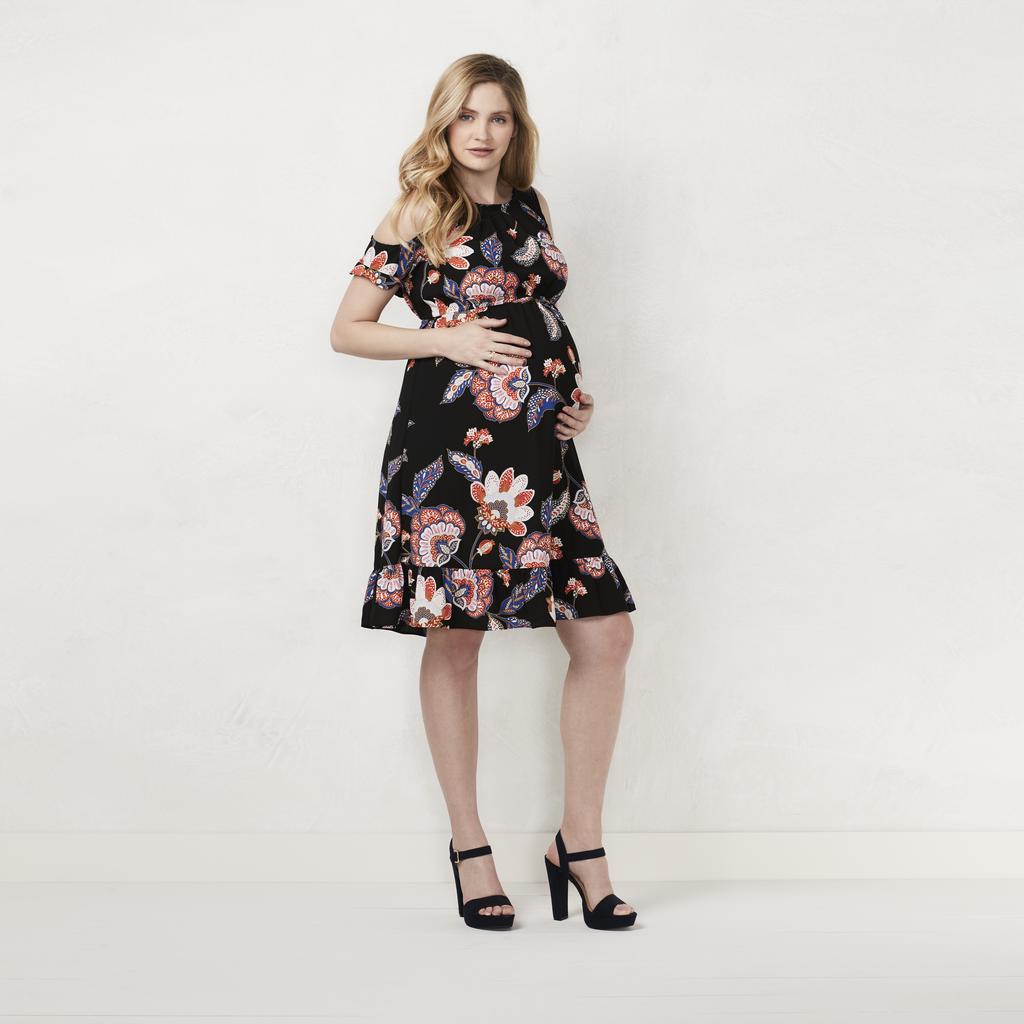 Cold-Shoulder Pleated Dress ($44)