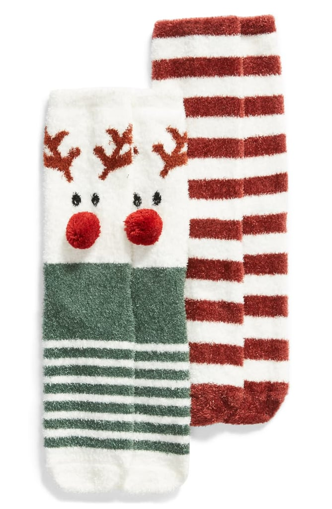 BP. Holiday Butter Crew Socks