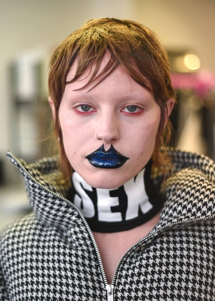 Exaggerated Blue Lips at Lula Laora Autumn 2021