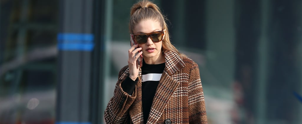 Gigi Hadid's Brown Coat From Mango