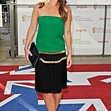 Louise Redknapp wore Gucci.
