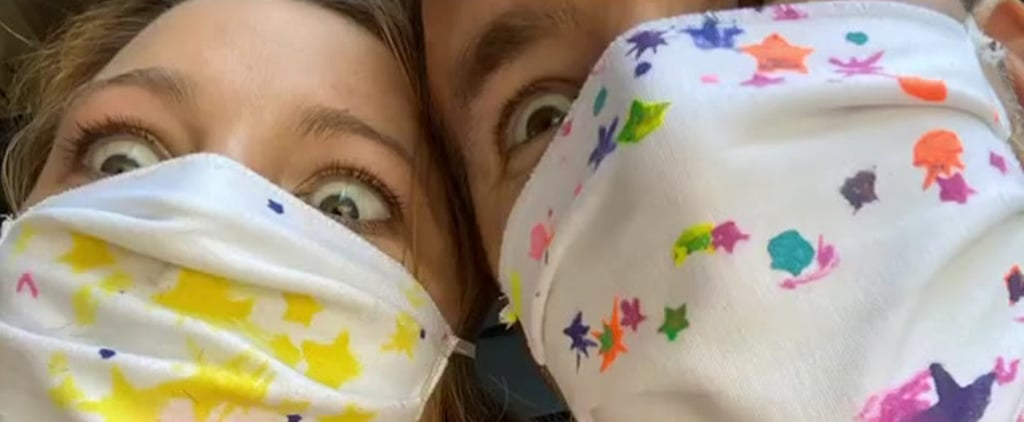 Blake Lively, Ryan Reynolds Wear Masks Designed by Daughters
