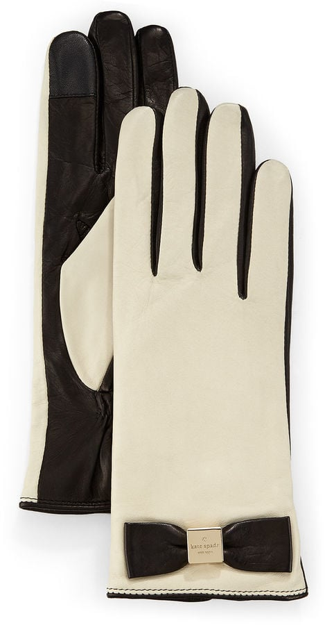 Kate Spade New York Leather Bow Tech Gloves ($128)
