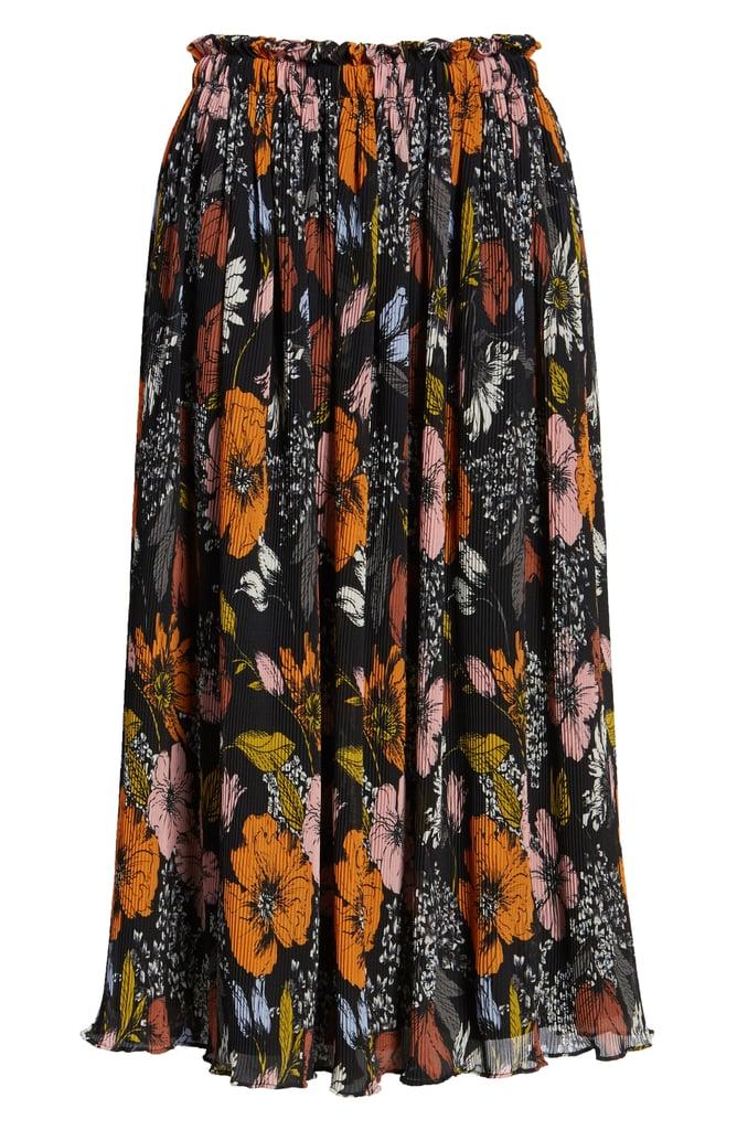 Crinkle Midi Skirt