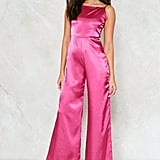 Nasty Gal Clueless Satin Jumpsuit