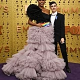Laverne Cox and Chase Strangio at the 2019 Emmys