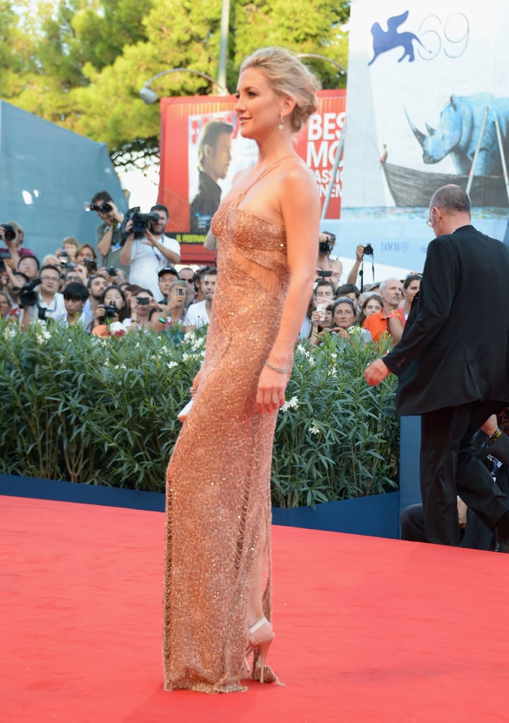Kate Hudson glowed in an Atelier Versace gown.