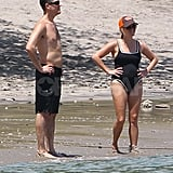 Pregnant Reese Witherspoon in Costa Rica with Jim Toth.