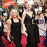 Charlize Theron and her mom, Gerda, walked the red carpet in matching black.