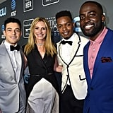Pictured: Rami Malek, Julia Roberts, Stephan James, and Shamier Anderson