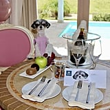 """On vacation we wear pink and stay in PINK rooms! My luxury junior suite was fit for a princess, decorated with my favorite color, and included a personal outdoor deck and pool! Can you say """"AMAZING""""?!"""