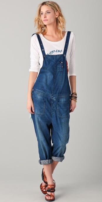 We love the relaxed shape — just roll up your cuffs and add a cool pair of pointed-toe pumps to shake up your weekend wear.  Maison Scotch Overalls ($229)