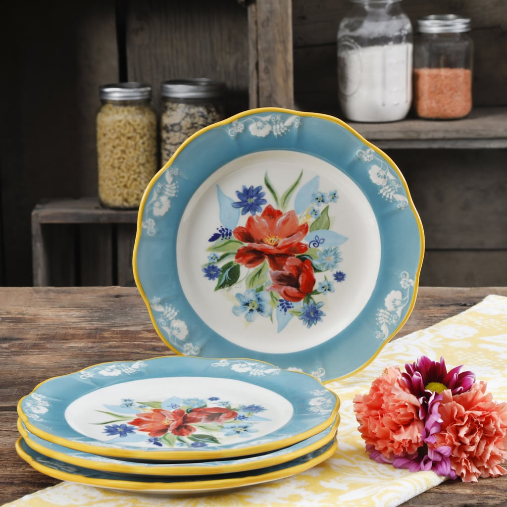 The Pioneer Woman Spring Bouquet 8.9-Inch Salad Plates, Set of Four