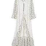 Goodnight Macaroon 'Jeanne' Ruffle Polka Dot Heart Print Maxi Dress
