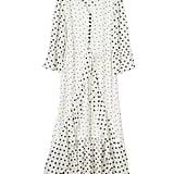 Goodnight Macaroon 'Jeanne' Ruffle Polka Dot Heart Print Maxi Dress